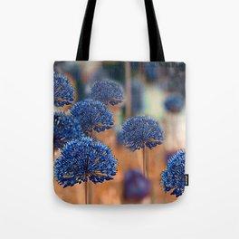 Blue ball flowers Tote Bag