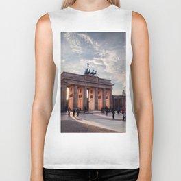 Brandenburg Gate in the Evening Biker Tank