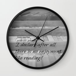 Jane Austen Reading Wall Clock