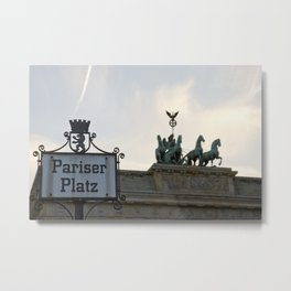 Brandenburger Tor at Pariser Platz Berlin Metal Print