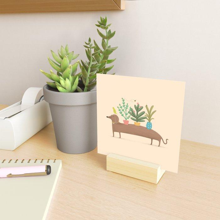 Dachshund & Parrot Mini Art Print