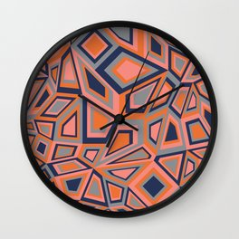 Poly Quads Wall Clock