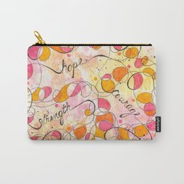 Flourish: Strength. Hope. Courage. Carry-All Pouch