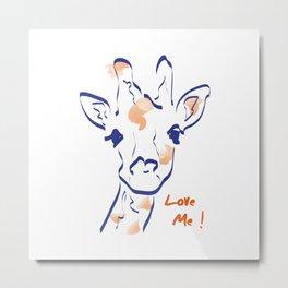 Girafe-Love me Metal Print