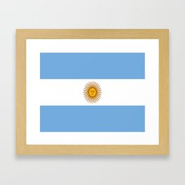 Flag of argentina -Argentine,Argentinian,Argentino,Buenos Aires,cordoba,Tago, Borges. Framed Art Print