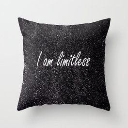 I Am Limitless Throw Pillow