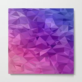 Geometric Abstract Art Pattern Four Metal Print