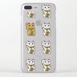 Maneki neko Clear iPhone Case