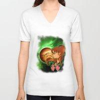 sailor jupiter V-neck T-shirts featuring Sailor Jupiter by Maren Lex