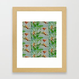 Vintage illustration bees Framed Art Print