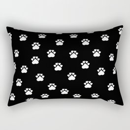 Cat's hand drawn paws in black and white Rectangular Pillow