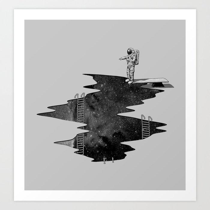 Space Diving Art Print