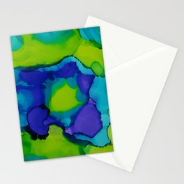 Purple and green dreams Stationery Cards