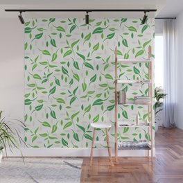 Tea leaves pattern Abstract Wall Mural