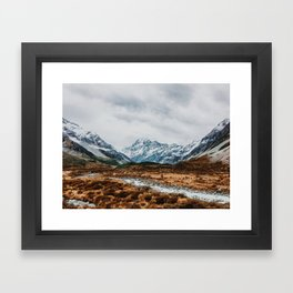 Mount Cook National Park Framed Art Print