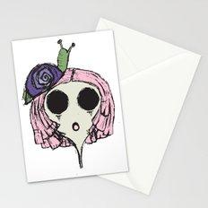 Snail Girl Stationery Cards