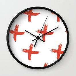 Cross x hand drawn print Wall Clock