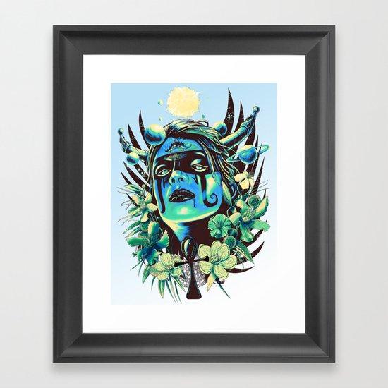 Hathor (Cool) Framed Art Print