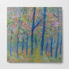 Impressionism Tree Forest, Modern Home Decor, Tree Art Metal Print