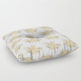 Death's Head Hawkmoth – Gold Palette Floor Pillow