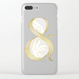 Me & You - Gold Clear iPhone Case