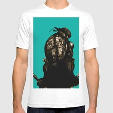 Leonardo White MEDIUM Mens Fitted Tee