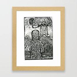And then jackals devoured the sky Framed Art Print