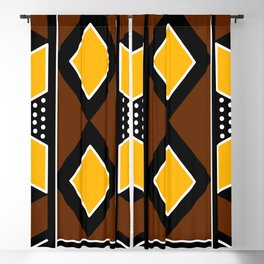 African Mudcloth Fabric Blackout Curtain
