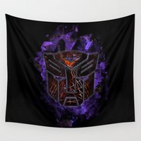 transformers Wall Tapestries featuring Autobots Abstractness - Transformers by DesignLawrence