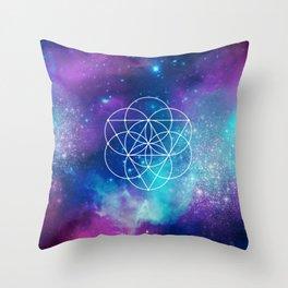 Egg Of Life Metaphysical Galaxy Throw Pillow