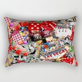 Gamblers Delight - Las Vegas Icons Rectangular Pillow