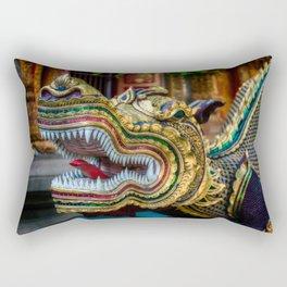 Temple Dragon Thailand Rectangular Pillow