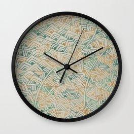 Color Burn Shard Wall Clock