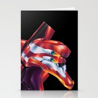 evangelion Stationery Cards featuring Evangelion EVA-02 by Etienne Chaize