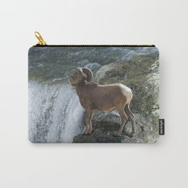 Big Horn Sheep & Rocky Mountain Waterfall Carry-All Pouch