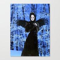 edgar allan poe Canvas Prints featuring Nevermore - Edgar Allan Poe by Danielle Tanimura