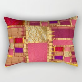 """Exotic fabric, ethnic and bohemian style, patches"" Rectangular Pillow"