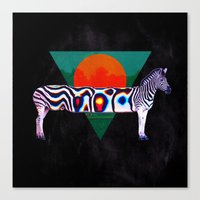 zebra Canvas Prints featuring Zebra by Ali GULEC