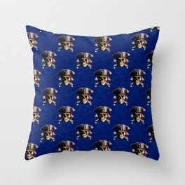 Jolly Roger In Pirate Hat Throw Pillow