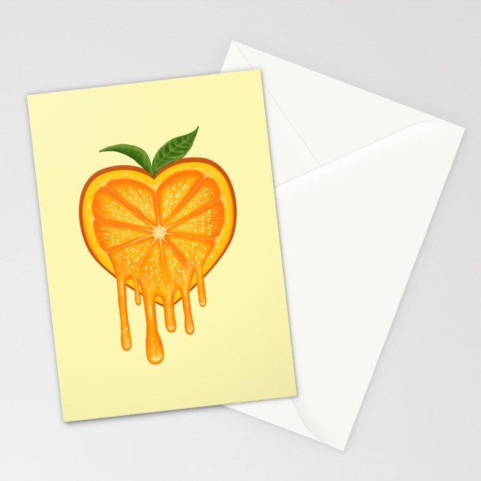 Love Orange Stationery Cards