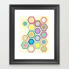 Honeycomb Layers II Framed Art Print