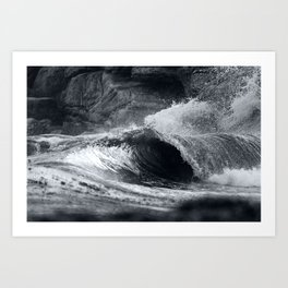 Storm Bay Barrels Art Print
