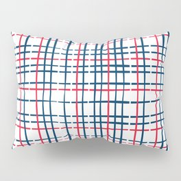4th of July Skinny Gingham Pillow Sham