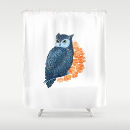 Blossoming owl Shower Curtain