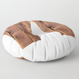 Wyoming Wood Board Planks, Texture Wood Grain  Floor Pillow