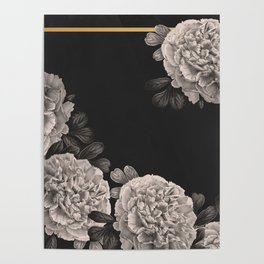 Flowers on a winter night Poster