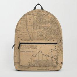 Vintage Houston Texas Railroad Map (1890) Backpack