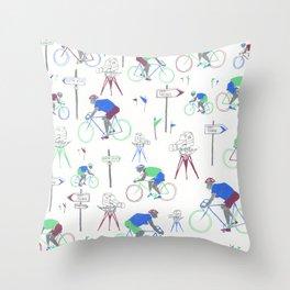 Race Riding  Throw Pillow