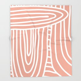 Monochromatic Rainbow in Blush Throw Blanket