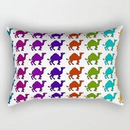 Camel Caravan Rainbow Rectangular Pillow